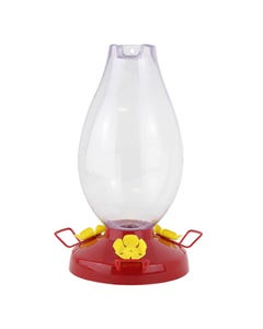 Perky-Pet® Rounded Vase Plastic Hummingbird Feeder - 33 oz