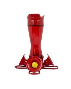 Perky-Pet® 8 oz Red Pinch Waist Plastic Hummingbird Feeder