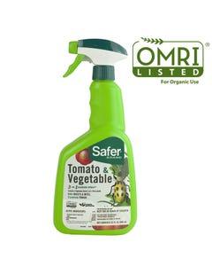 Safer® Brand Tomato & Vegetable 3-in-1 Garden Spray® - 32oz OMRI Listed® for    Organic Use