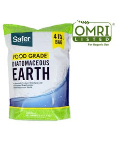 Safer® Brand Food Grade Diatomaceous Earth - 4 lb OMRI Listed® for Organic Use
