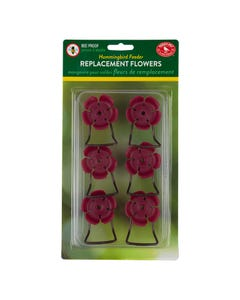 Perky-Pet® Replacement Pink Hollyhock Flower Feeding Ports and Perches