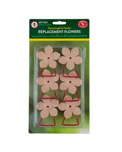 Perky-Pet® Replacement Pink Phlox Flower Feeding Ports and Perches