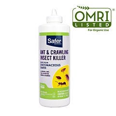 Safer® Brand Ant and Crawling Insect Killer Diatomaceous Earth Powder OMRI      Listed® for Organic Use