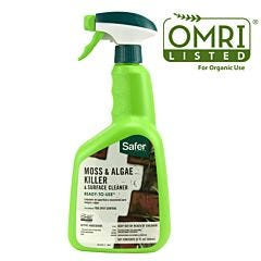 Safer® Brand RTU 32oz Moss and Algae Killer and Surface Cleaner OMRI Listed®    for Organic Use