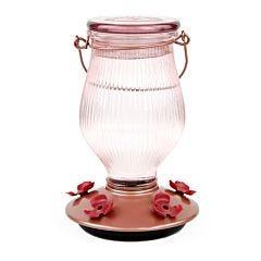 Perky-Pet® Rose Gold Top-Fill Glass Hummingbird Feeder