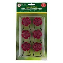 Perky-Pet® Crimson Hollyhock Flower Feeding Ports and Perches