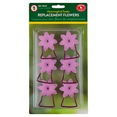 Perky-Pet® Replacement Pink Petunia Flower Feeding Ports and Perches