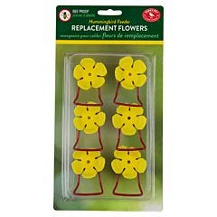 Perky-Pet® Replacement Yellow Hollyhock Flower Feeding Ports and Perches