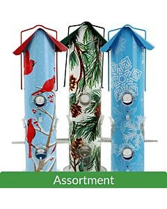 Perky-Pet® Holiday Tube Feeder Assortment