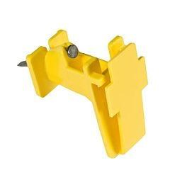 Zareba® Yellow Polytape Wood Post Insulator