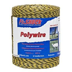 Fi-Shock® Yellow 6 Conductor Polywire - 1320 ft