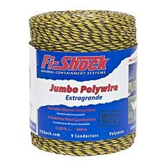 Fi-Shock® Yellow 9 Conductor Polywire - 1320 ft
