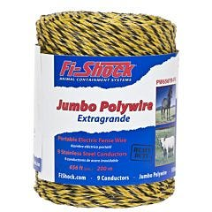 Fi-Shock® Yellow 9 Conductor Polywire - 656 ft