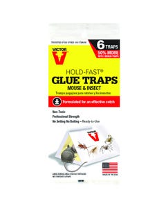 Victor® Hold-Fast® Mouse & Insect Glue Traps - 6 Traps