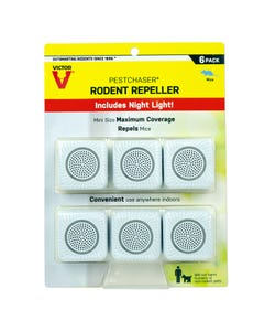 Victor® Pestchaser® Rodent Repellent with Nightlight - 6 Units