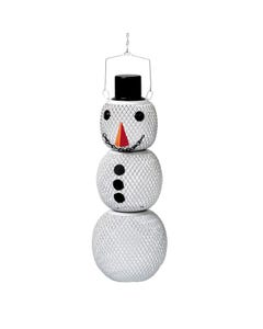 Perky-Pet® Solar Hat Snow Man Wild Bird Feeder