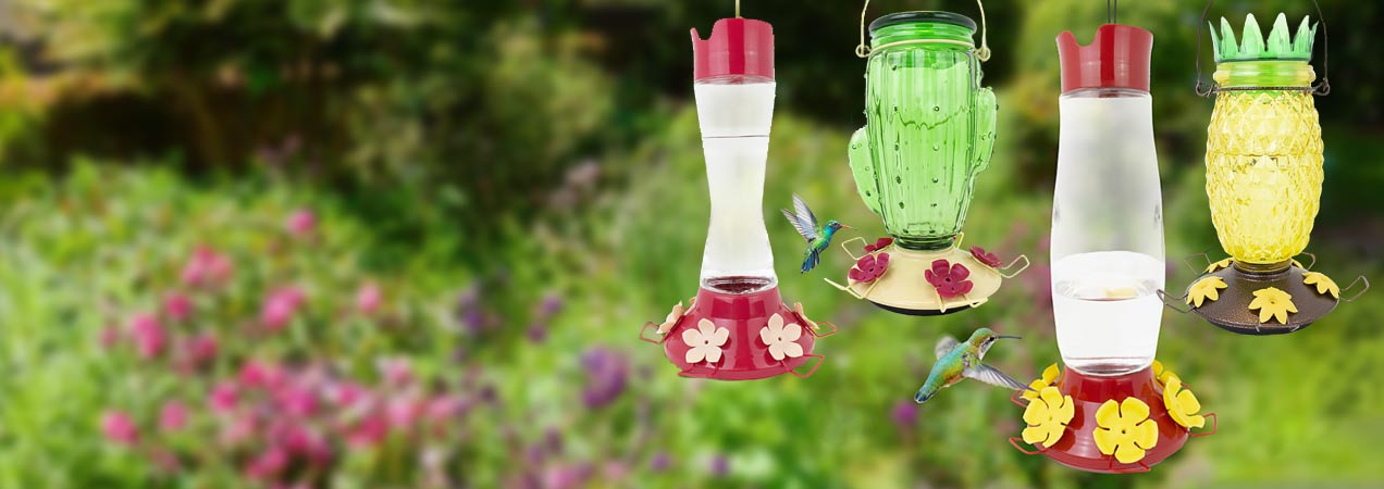 Perky-Pet's All-New Top-Fill Hummingbird Feeders